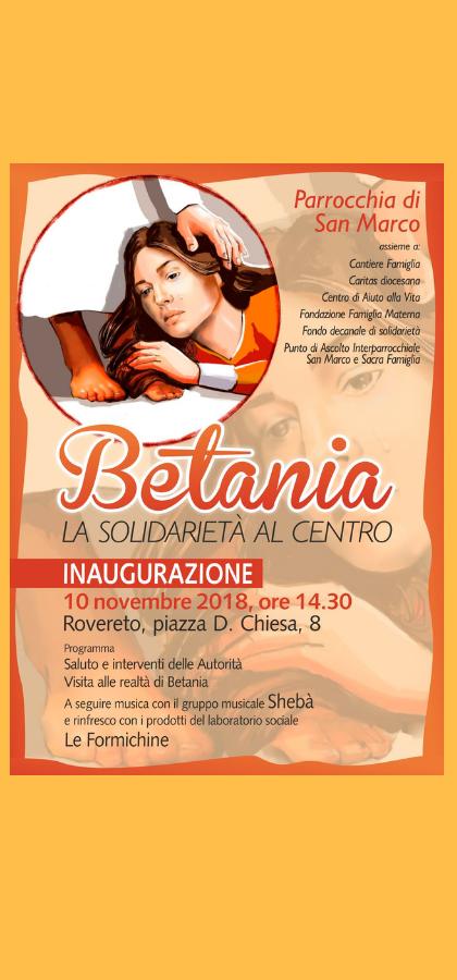 Inaugurazione Betania